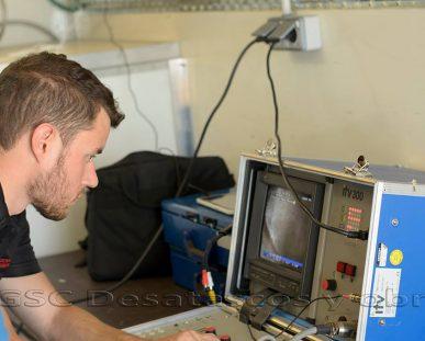 Inspección de tuberías con cámara CCTV